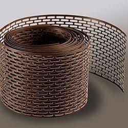 Вентиляционная лента свеса Wentop ПВХ 100х5000 мм коричневая