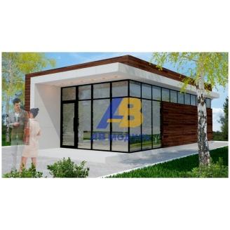 Строительство офиса продаж 47 м2