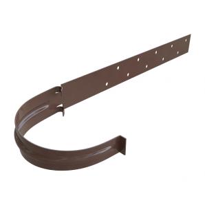 Кронштейн жолоба металевий Альта-Профіль Еліт 125 мм коричневий