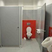 Сантехническая перегородка НОВЫЙ ПРОЕКТ ГРУПП ЭКОНОМ туалетная 900x1200x2000 мм серый