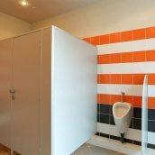 Сантехническая перегородка НОВЫЙ ПРОЕКТ ГРУПП ЭКОНОМ туалетная 900x1200x2000 мм ваниль