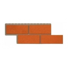 Фасадна панель Альта-Профіль Камінь Неаполітанський 1250х450х26 мм теракотовий