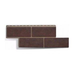 Фасадна панель Альта-Профіль Камінь Неаполітанський 1250х450х26 мм коричневий