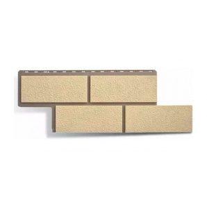 Фасадна панель Альта-Профіль Камінь Неаполітанський 1250х450х26 мм слонова кістка