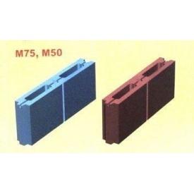 Шлакоблок М-75 500х80х190 мм