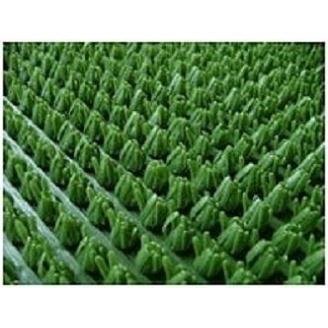 Рулонное грязезащитное входное щетинистое пластиковое покрытие 12х900х15000 мм темно-зеленое