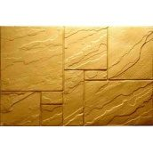 Фасадная плитка Rocky Цокольная плита 25х400х600 мм желтая