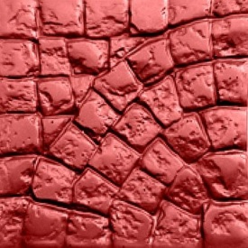 Тротуарна плитка Rocky Рим 45х450х450 мм червоний мармур