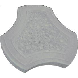 Тротуарна плитка Rocky Медуза 35х270х270 мм сірий