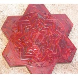 Тротуарная плитка Rocky Арабика 40х450 мм красный мрамор