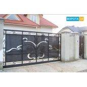 Кованые ворота уличные откатные
