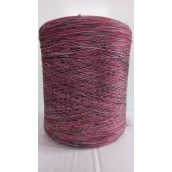 Нить для оверлока коврового изделия меланж красно-черно-белый