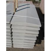 Двосхилий кришка на паркан 1000*300*55 мм сіра