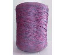 Нить для оверлока паласа меланж розово-синий