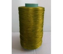 Нить для оверлока коврового покрытия металлик хаки зеленая