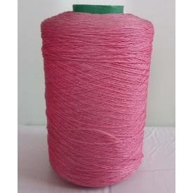 Нить для коврового оверлока крученая розовая