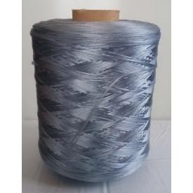Нить для оверлока краев ковролина металлик голубой