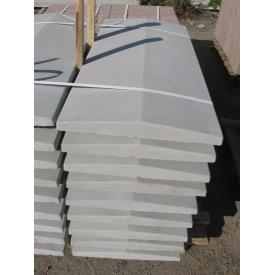 Двускатная крышка на забор 1000*300*55 мм серая