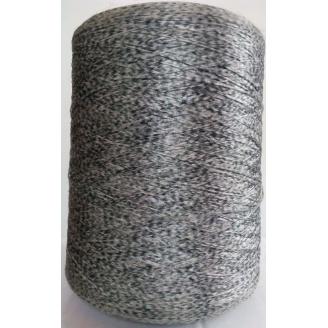 Нитка для оверлока килимового покриття сіра плямистая