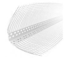 Угол перфорированный пластиковый со стеклосеткой 2500 мм