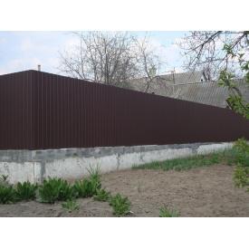Забор из профнастила 1 пог. м