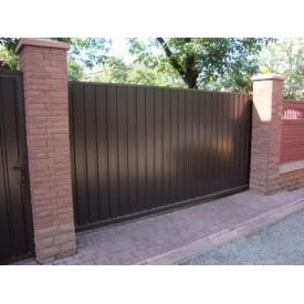 Откатные ворота из профнастила 2х3 м