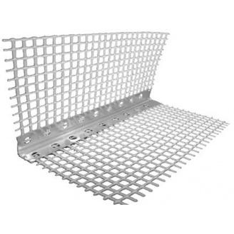 Угол перфорированный алюминиевый со стеклосеткой 3000 мм