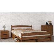 Ліжко МеблиЕко Ліка з ящиками 120х200 см (101437)