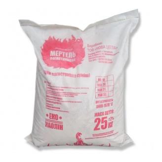 Шамотная глина Мертель 25 кг