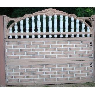 Комплект Евро Бетонный забор 17
