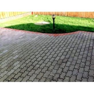 Тротуарна плитка Змійка Економ 30 мм сіра