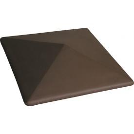 Кришка ковпак для забору Пряма 580х580 мм коричнева
