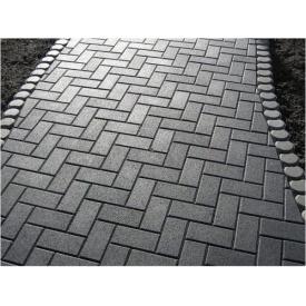 Тротуарная плитка Кирпич Эконом 30 мм серая