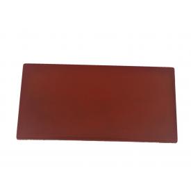 Цокольная плита на забор 200х400 мм красная