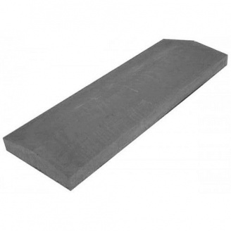 Конек для забора бетонный LAND BRICK 1000х450 мм серый
