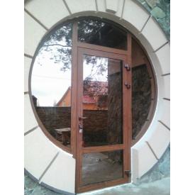 Входные двери из алюминия марки Алютех с замком