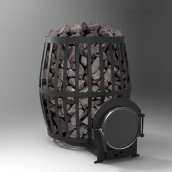 Піч кам'янка на дровах Vesuvi ПКБ-Бочка 18 кВт