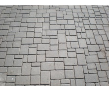 Тротуарна плитка Старе місто Економ 80 мм сіра