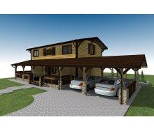 Строительство каркасного дома ТК_Rancho_256 м2