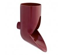 Отвод сливной декоративный Nicoll 29 VODALIS 80 мм красный