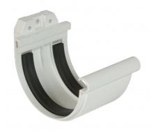 Муфта желоба Nicoll 25 ПРЕМИУМ на резиновых уплотнителях 115 мм белый