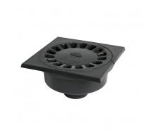 Сифон підлоговий Nicoll з вертикальним відводом 150х150 мм чорний