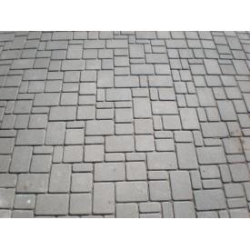 Тротуарная плитка Старый город - Эконом 40 мм серая