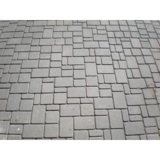 Тротуарна плитка Старе місто - Економ 40 мм сіра