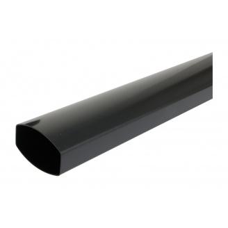 Труба водосточная Nicoll 28 OVATION 80 мм темно-серый