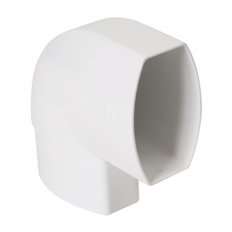 Отвод по плоскости стены Nicoll 28 OVATION 90° 80 мм белый