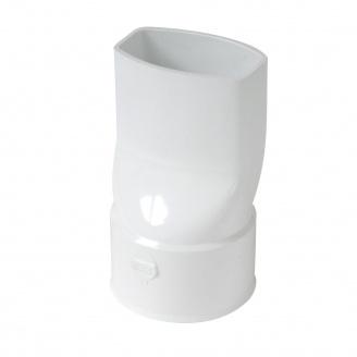 Переходник с квадратной на круглую трубу Nicoll 28 OVATION белый