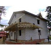 Будинок з піноблоків, газоблоків, монолітний, цегляний 9х9м