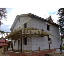 Дом из газоблоков, монолитный с отделкой кирпича 9х9м