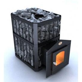 Дверцята Новаслав С2 для печі з термостійким склом 200х200 мм